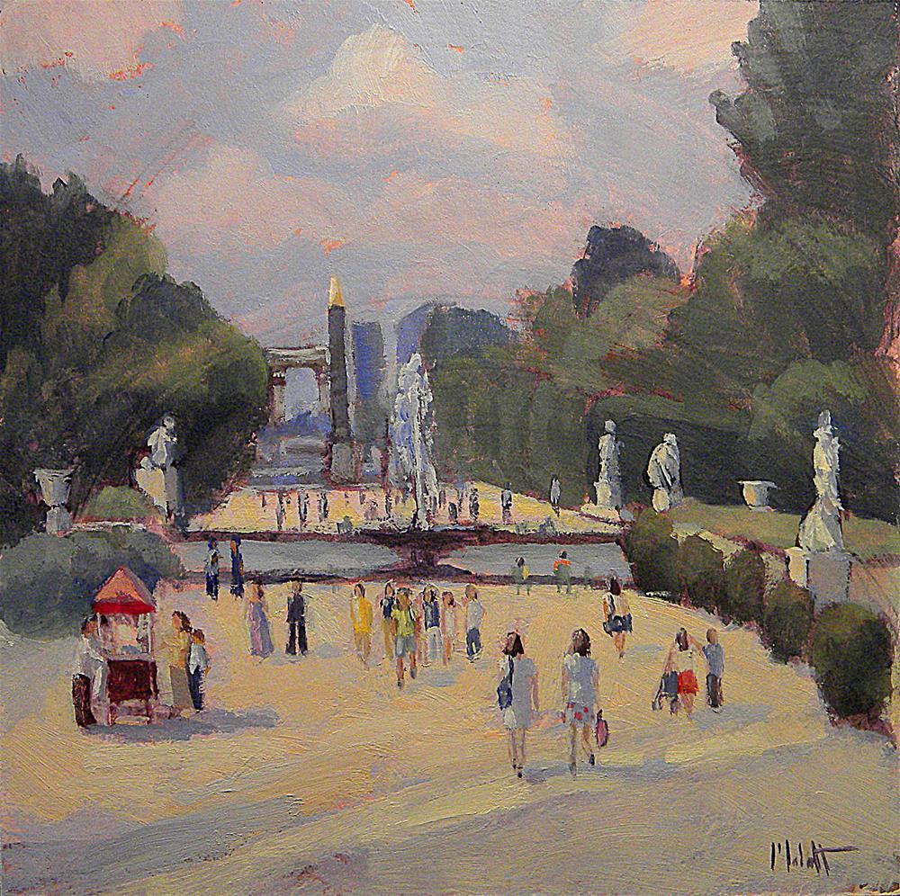 """Paris Park Jardin des Tuileries Daily Painting Heidi Malott"" original fine art by Heidi Malott"
