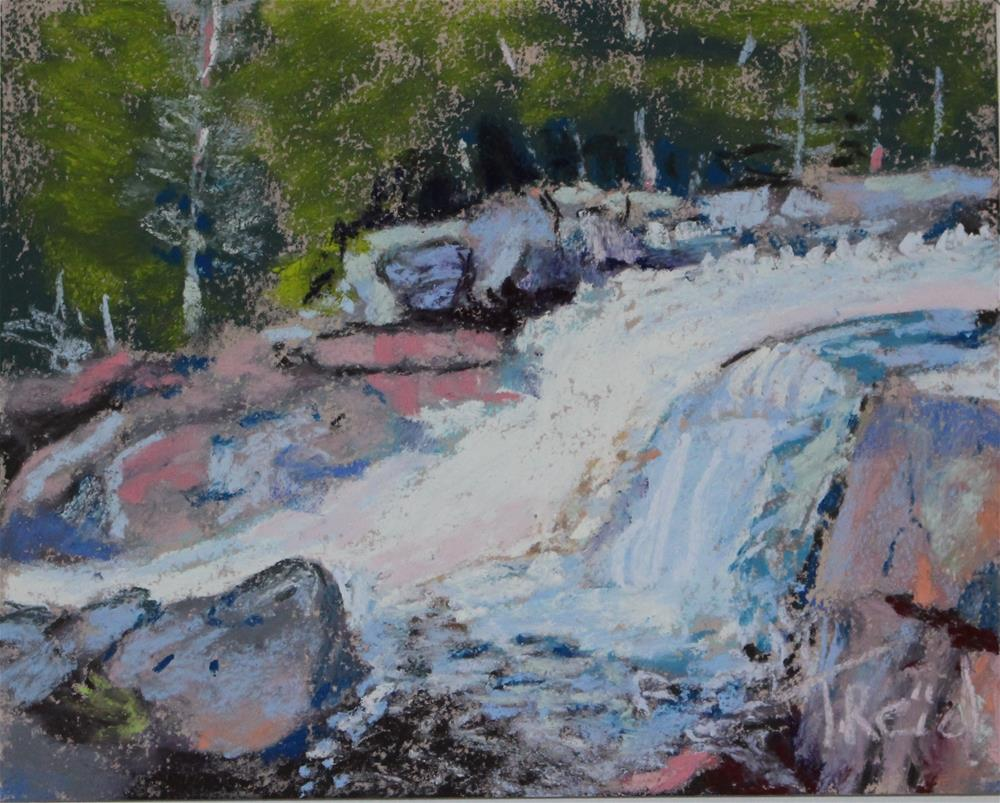 """Glen Falls"" original fine art by Toby Reid"