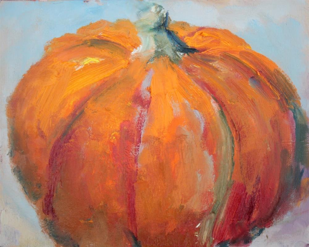 """Pumpkin, Contemporary Still Life Paintings by Amy Whitehouse"" original fine art by Amy Whitehouse"