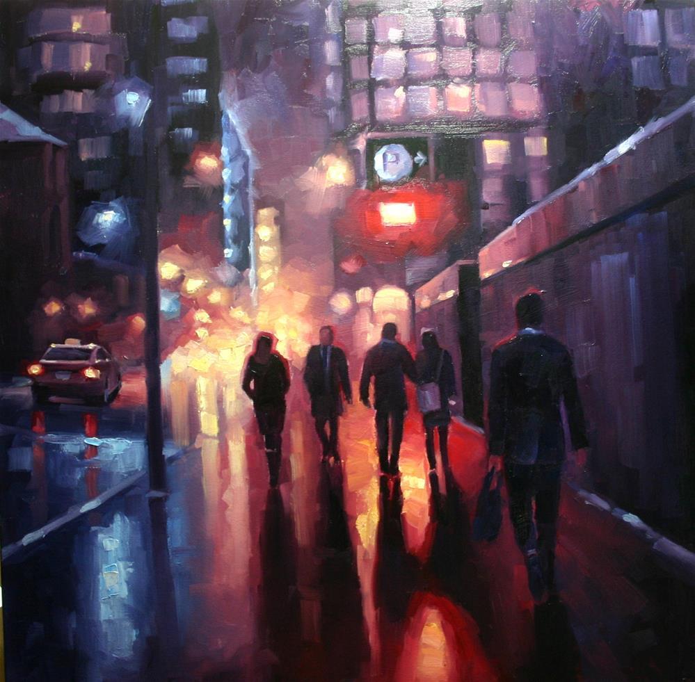"""Wet Snow on Wellington Street"" original fine art by Catherine Jeffrey"