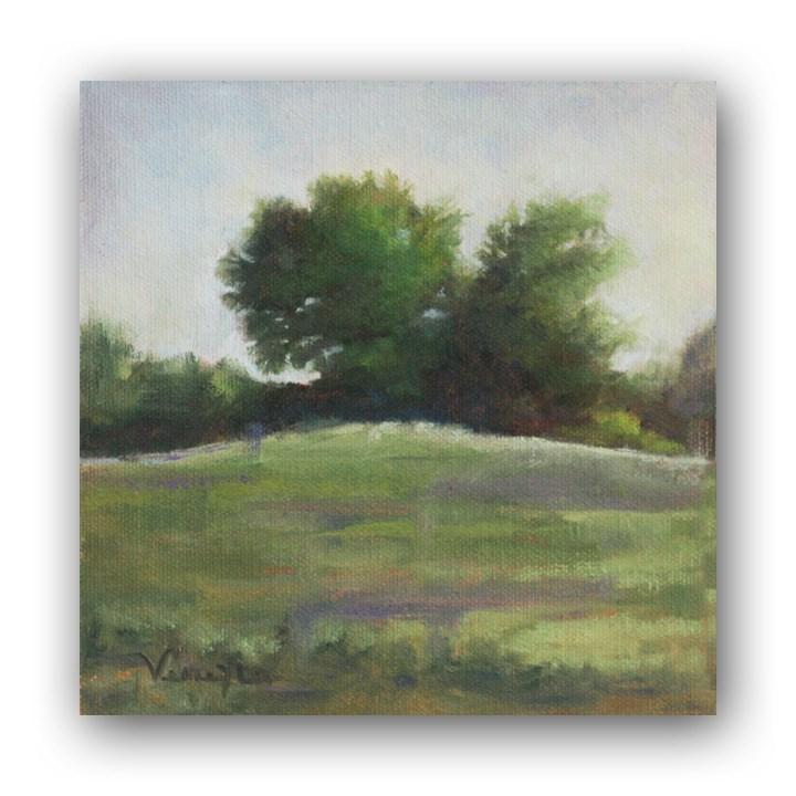 """Landscape Painting Tress on Agress Road"" original fine art by Carrie Venezia"