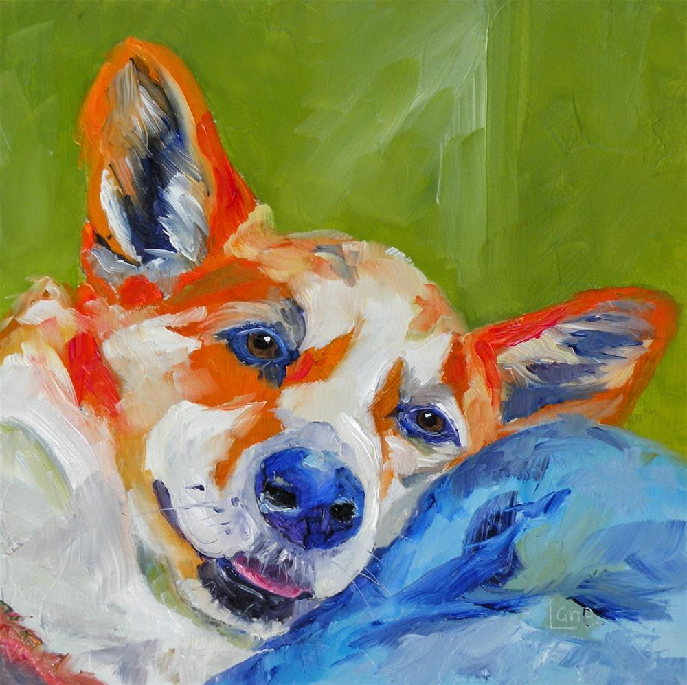 """DEWEY 55/101 OF 101 PET PORTRAITS IN 101 DAYS © SAUNDRA LANE GALLOWAY"" original fine art by Saundra Lane Galloway"