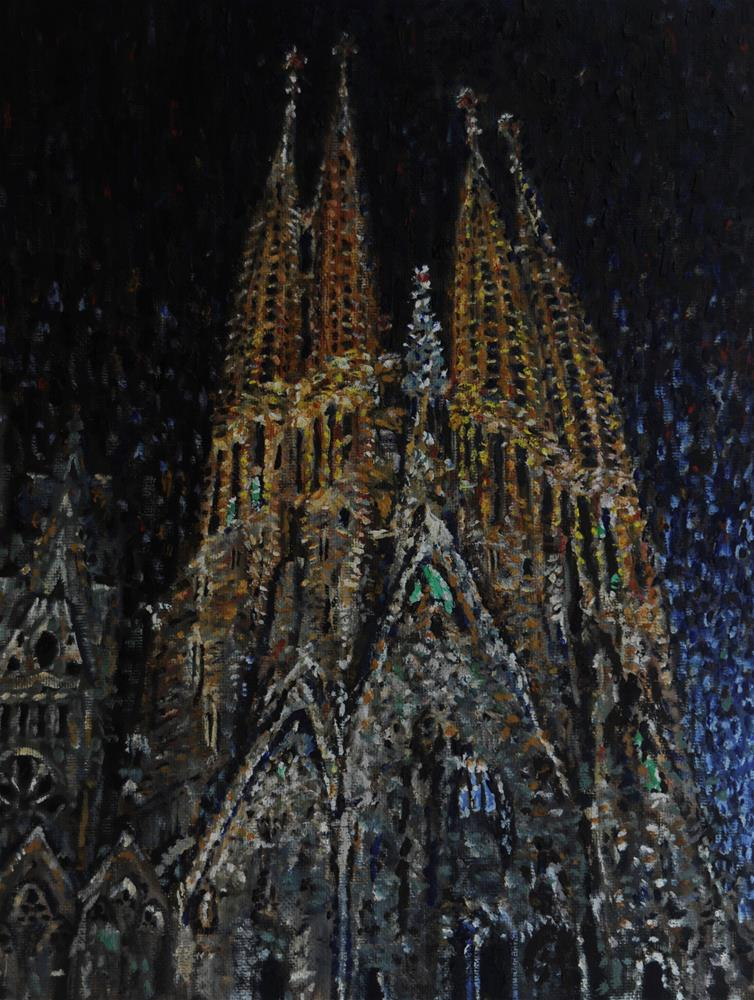 """Familia Sagrada"" original fine art by Fred Jones"