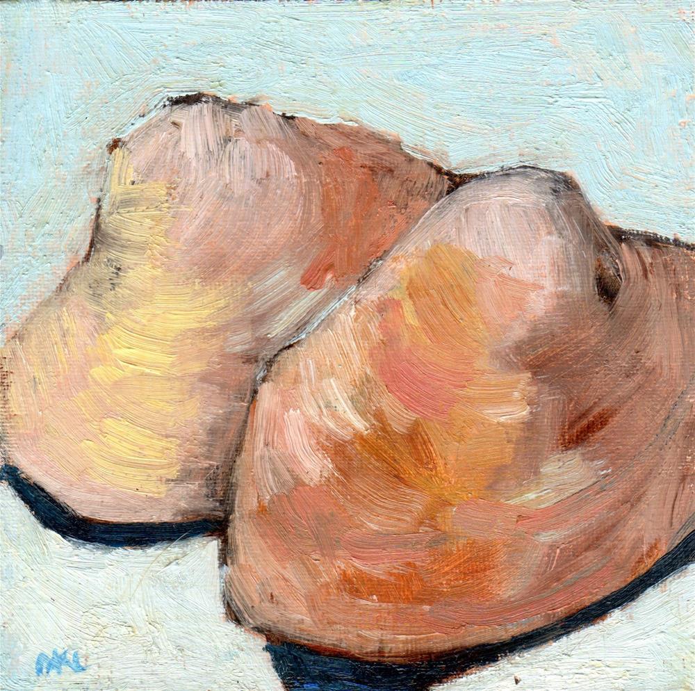 """""""Two Shells"""" original fine art by Marlene Lee"""