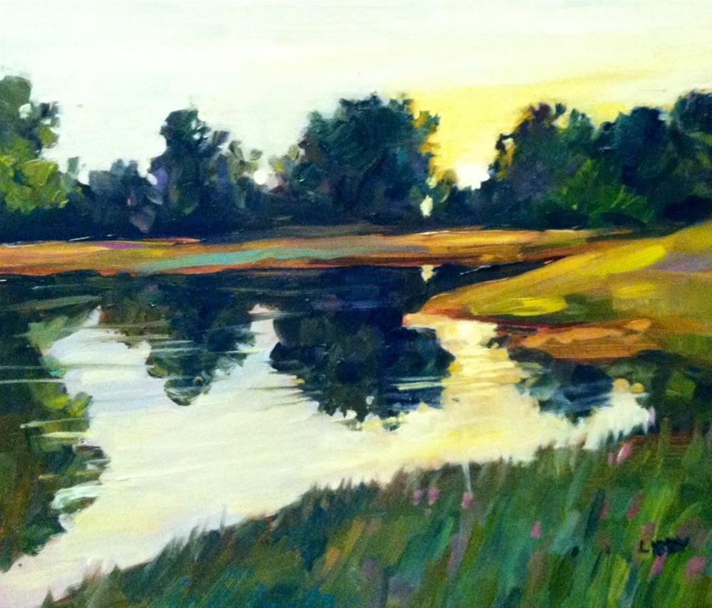 """""""By the Water"""" original fine art by Libby Anderson"""