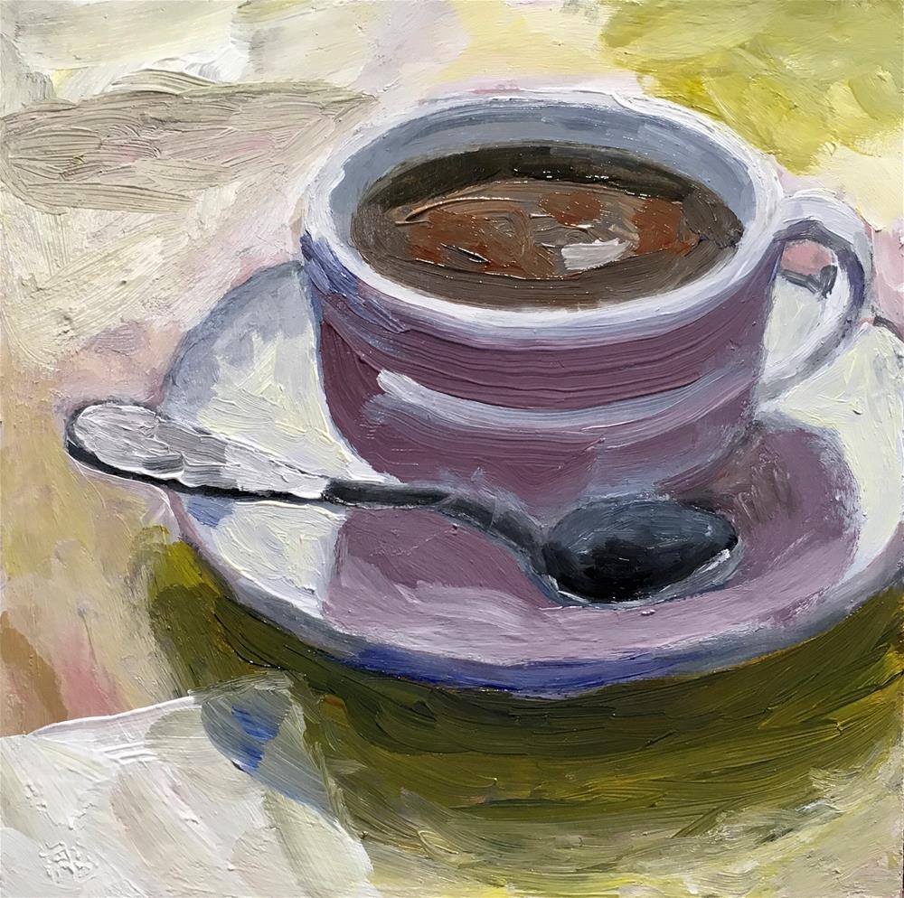 """242 Friendly Coffee"" original fine art by Fred Bell"