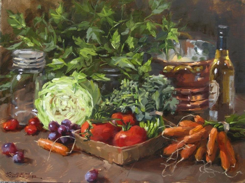 """Spring Pickings"" original fine art by Karen Werner"