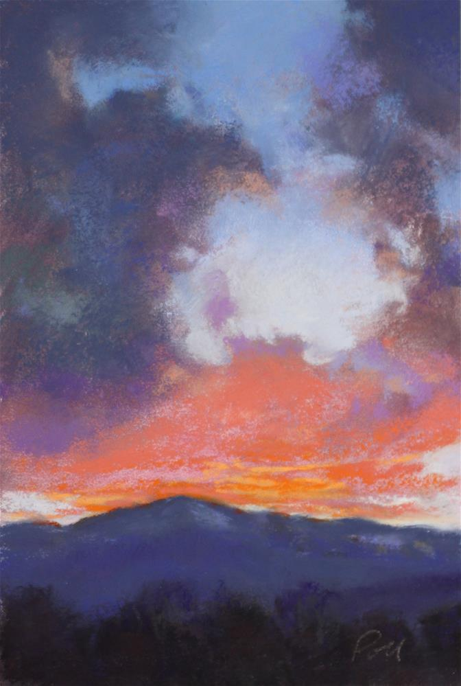 """Pikes Peak Sunset"" original fine art by Pamela Poll"