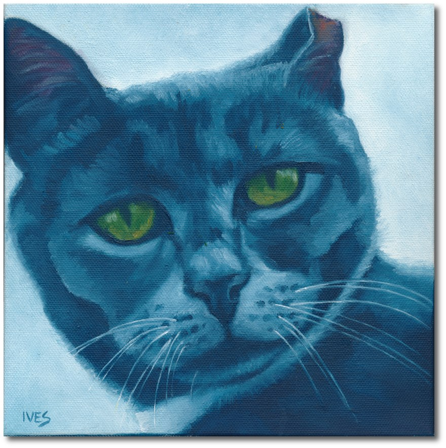 """Gray Feral"" original fine art by Rk Ives"