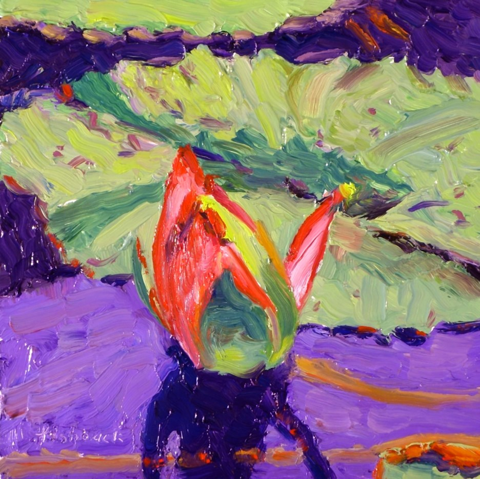 """Purple and Green Lilly"" original fine art by Daniel Fishback"