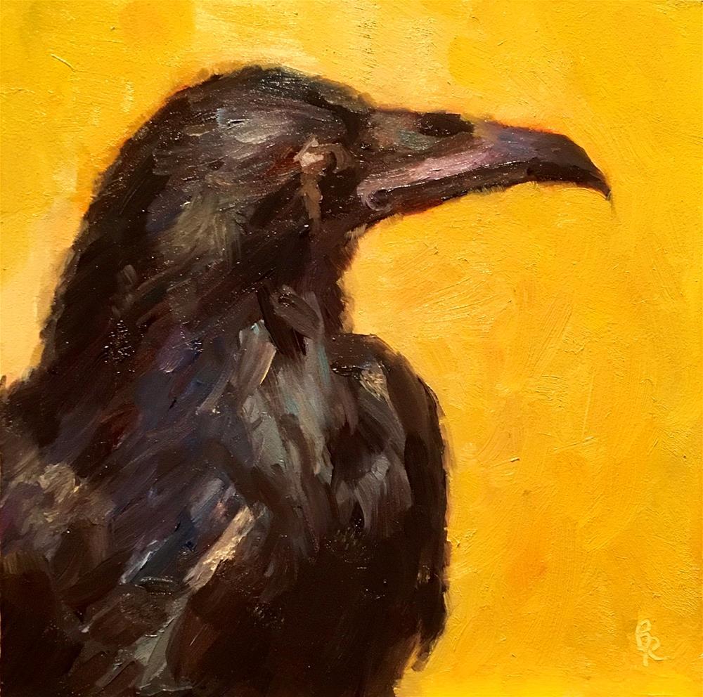 """Something To Crow About"" original fine art by Barbara Ramp"