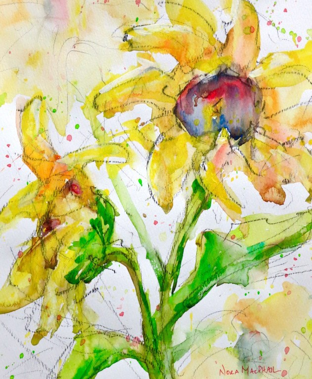 """sunny disposition"" original fine art by Nora MacPhail"
