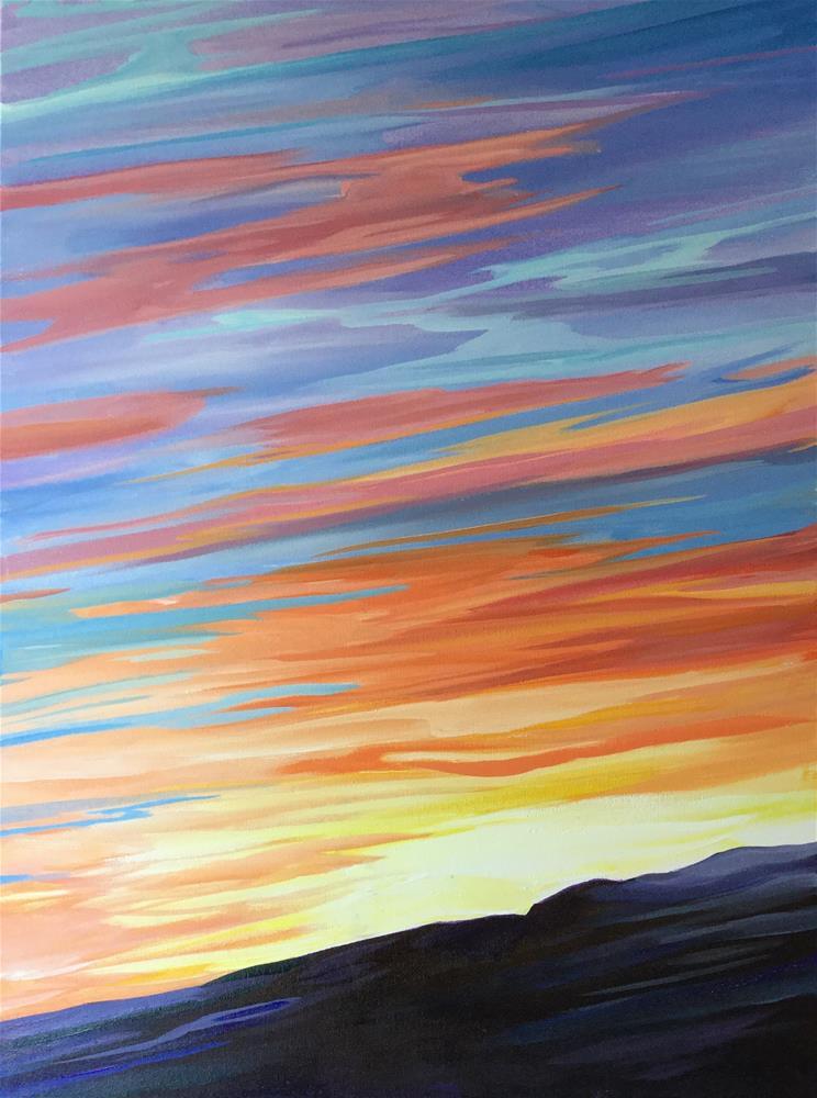 """""""Sky Abstraction"""" original fine art by Lauren Kuhn"""