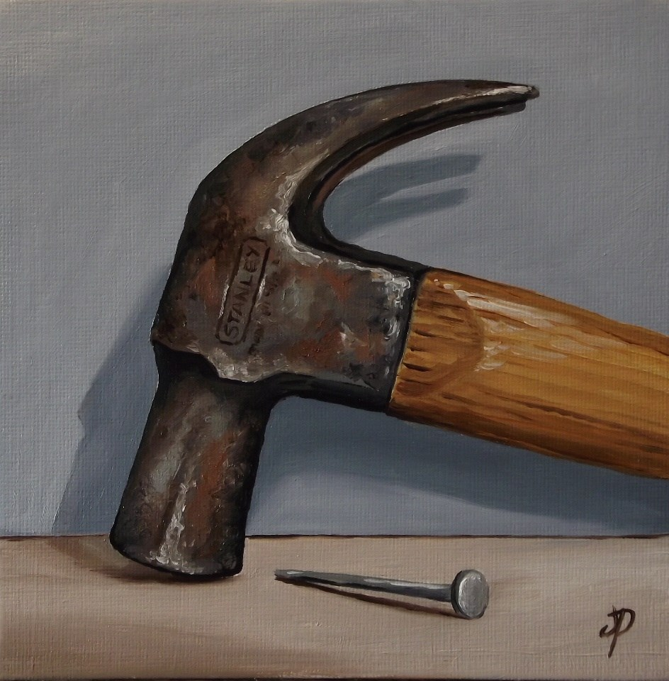 """Hammer and Nail"" original fine art by Jane Palmer"