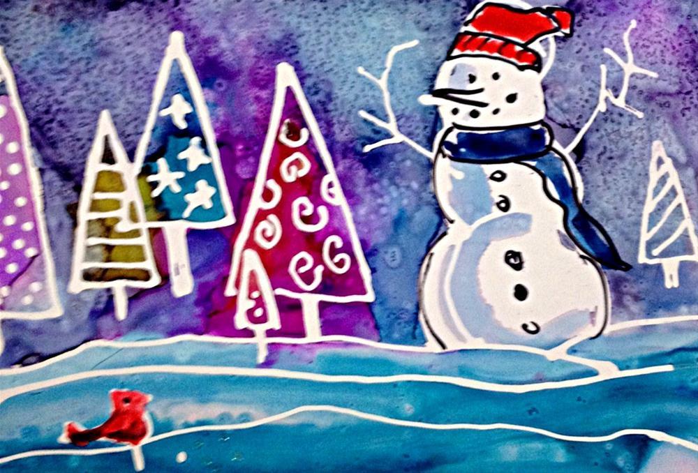 """Snowscape1"" original fine art by Kristen Dukat"