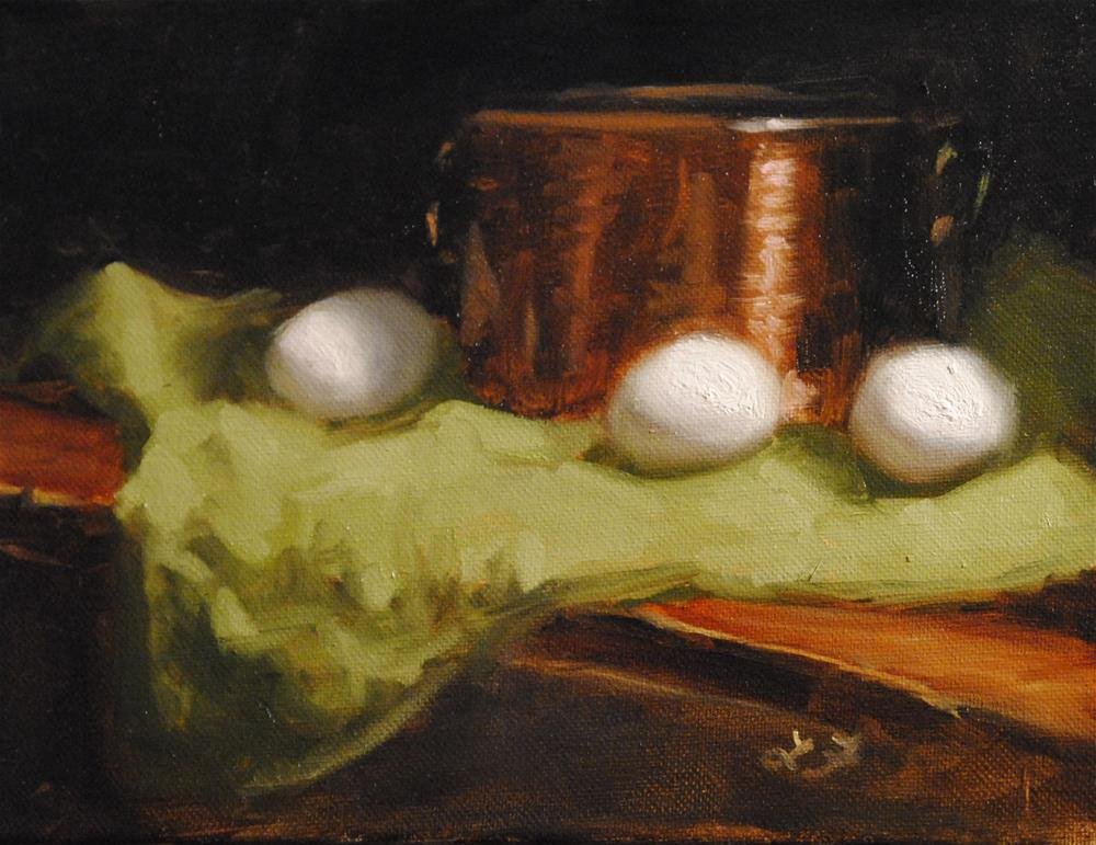 """Still Life Study with Eggs"" original fine art by Lori Jacobs - Farist"