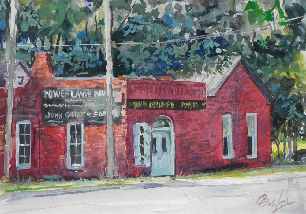 """Geist Blacksmith Shop"" original fine art by Chris Ousley"