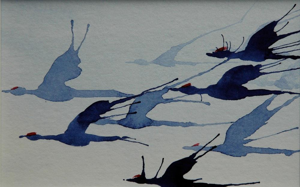 """""""Ende Oktober (End of October)"""" original fine art by Ulrike Schmidt"""