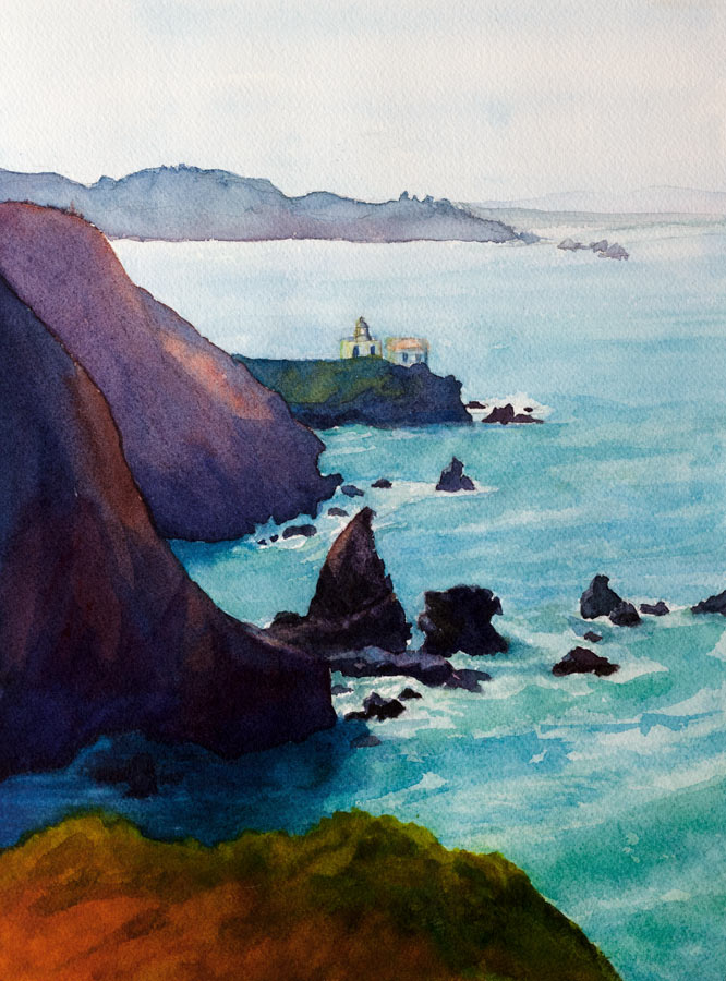 """Point Bonita #2"" original fine art by Jana Bouc"
