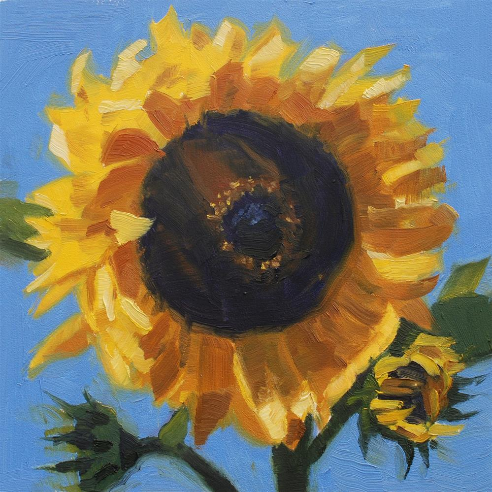 """Sunflower #2"" original fine art by Susan McManamen"