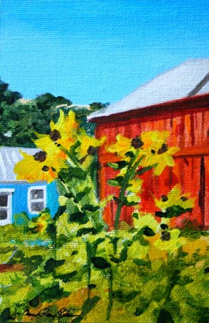 """""""Hoey Barn Greeters"""" original fine art by JoAnne Perez Robinson"""