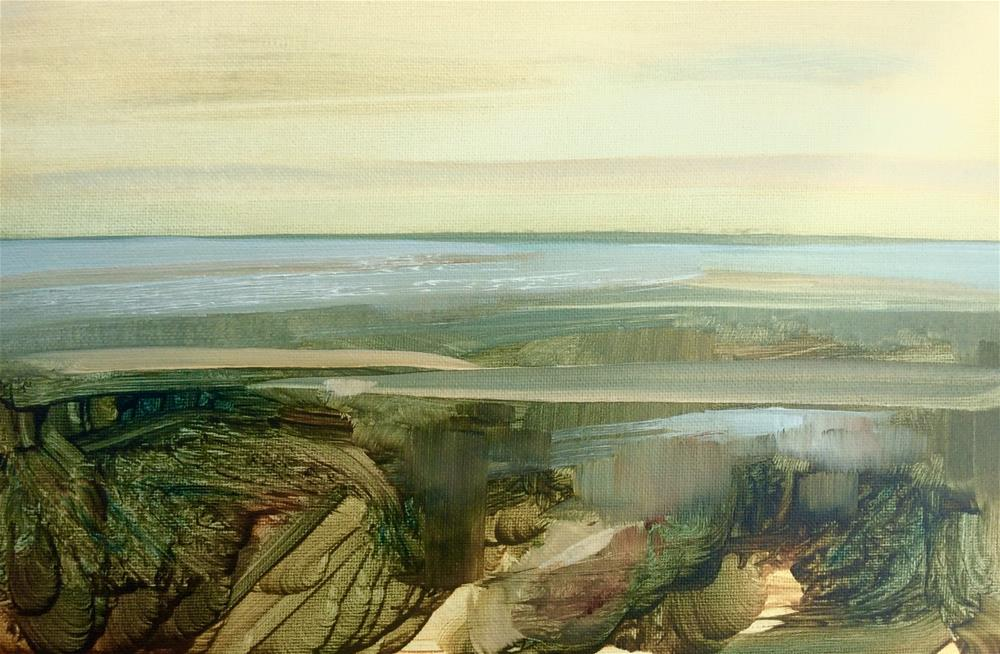 """Golden Coast"" original fine art by Anne Wood"
