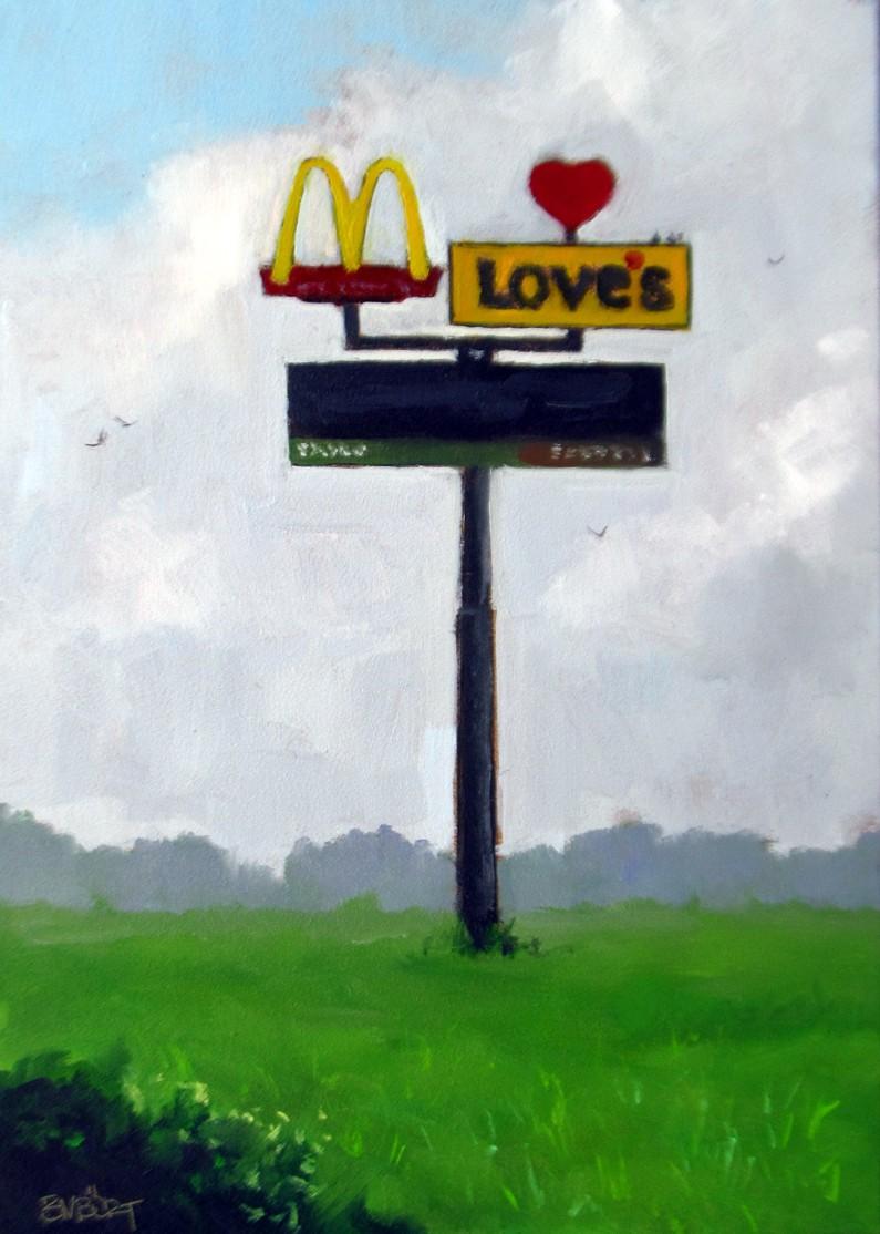 """DAILY DIAPER #219 Man's Monument"" original fine art by Brian Burt"