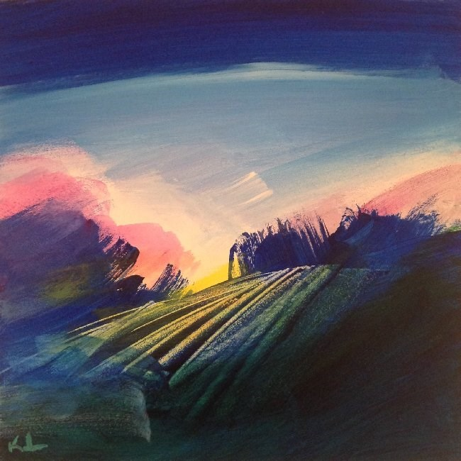 """Morning Glory"" original fine art by David Kuhn"
