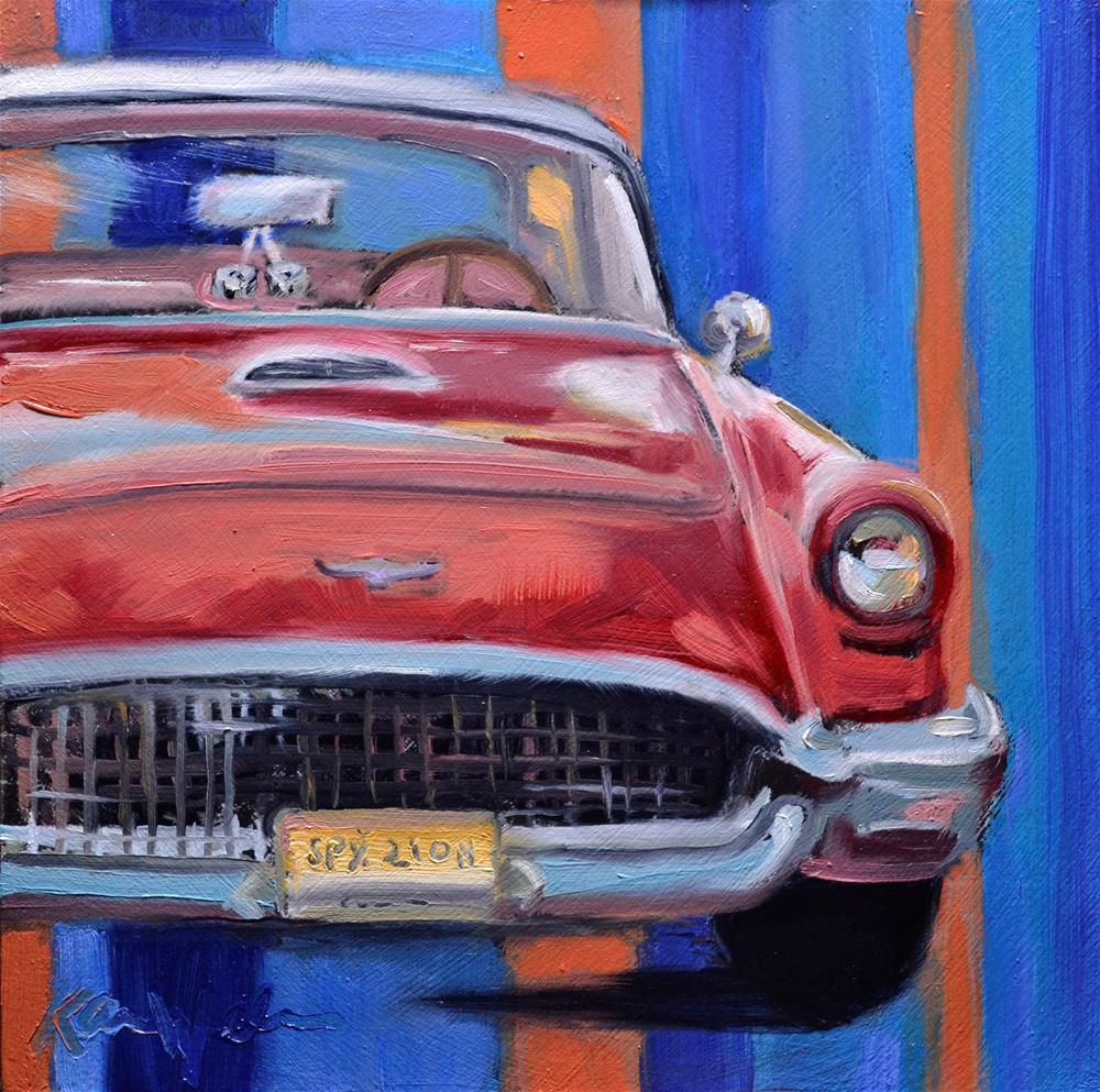 """Vintage Thunderbird"" original fine art by Karen Weber"