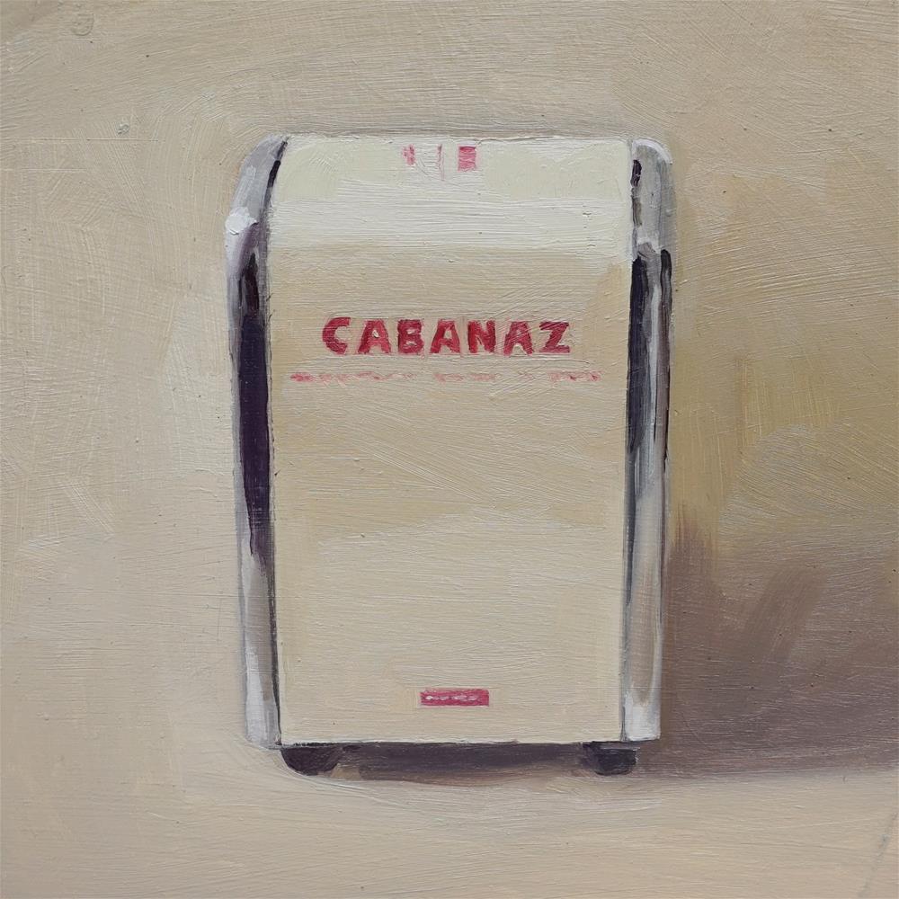 """Cabanaz Tissue Dispenser"" original fine art by Jeroen van der Velden"