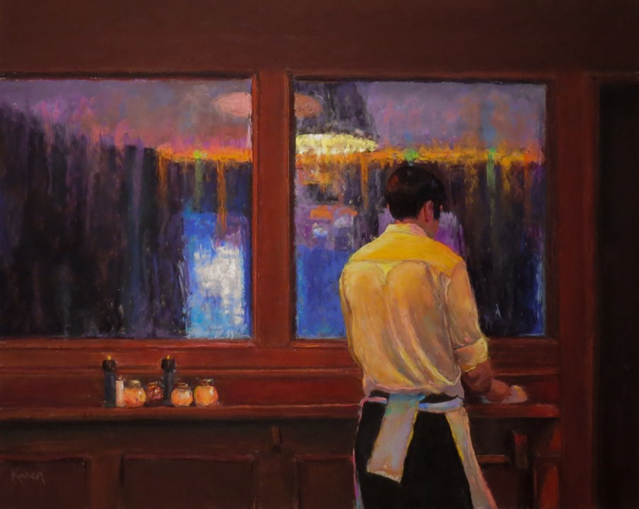 """""""Another Glass"""" original fine art by karen israel"""