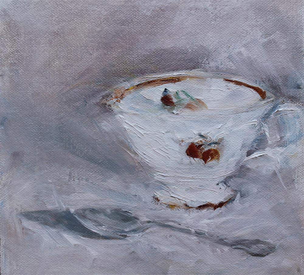 """Mother's Tea Cup"" original fine art by Karen Solorzano"