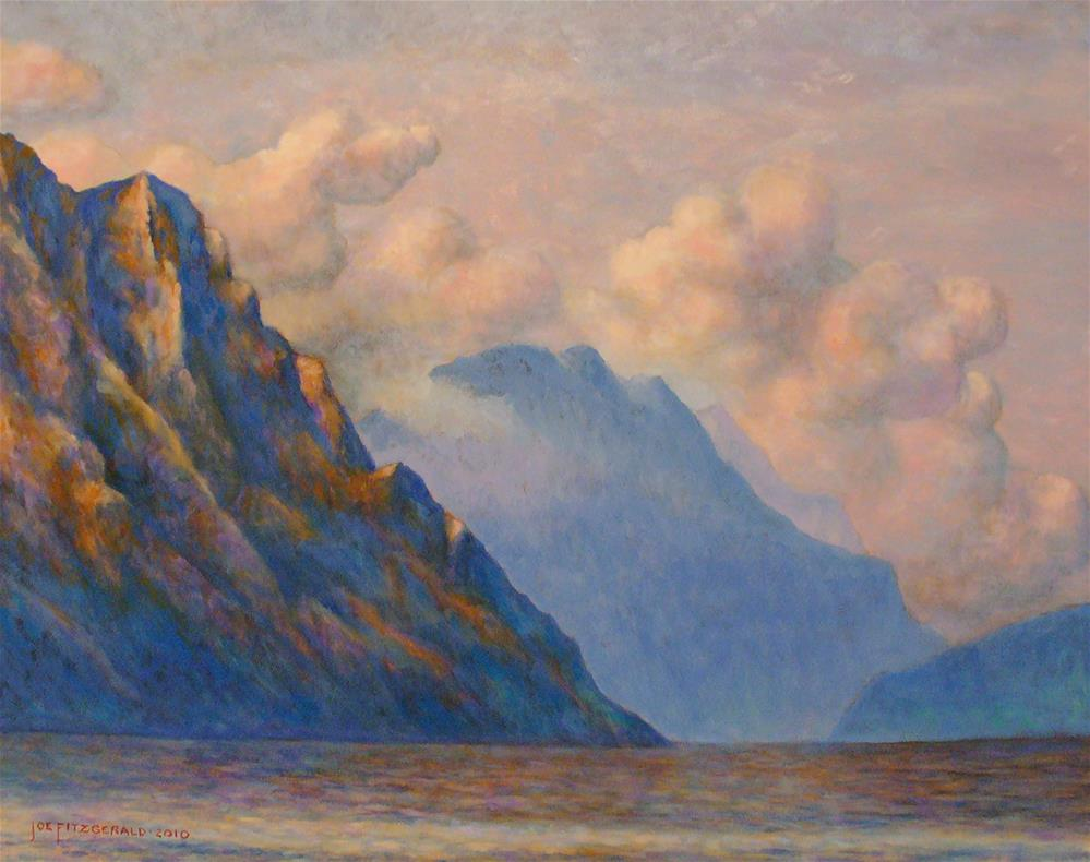 """Lake Garda"" original fine art by Joe Fitzgerald"