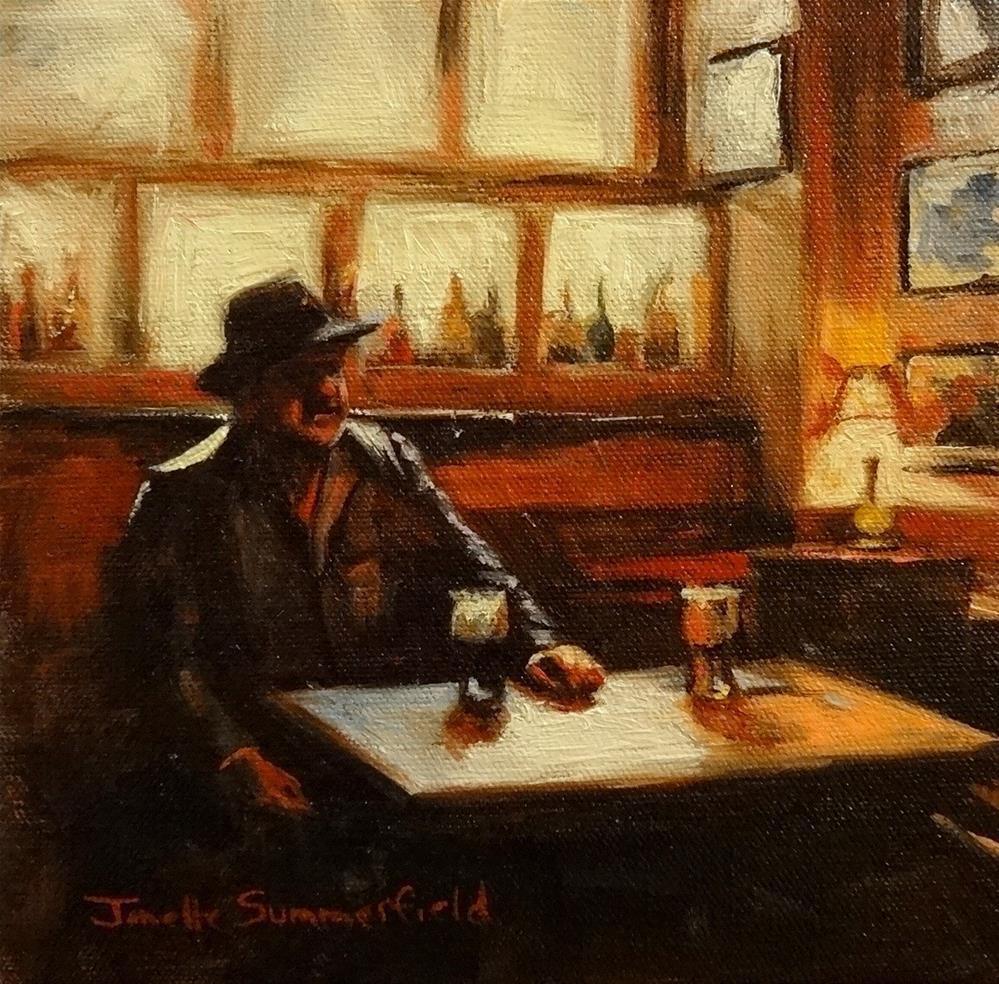 """""""Off Duty Fisherman"""" original fine art by Jonelle Summerfield"""