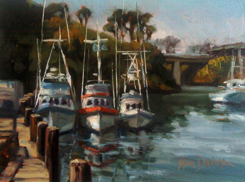 """Fabulous Fishing Boats"" original fine art by Erin Dertner"