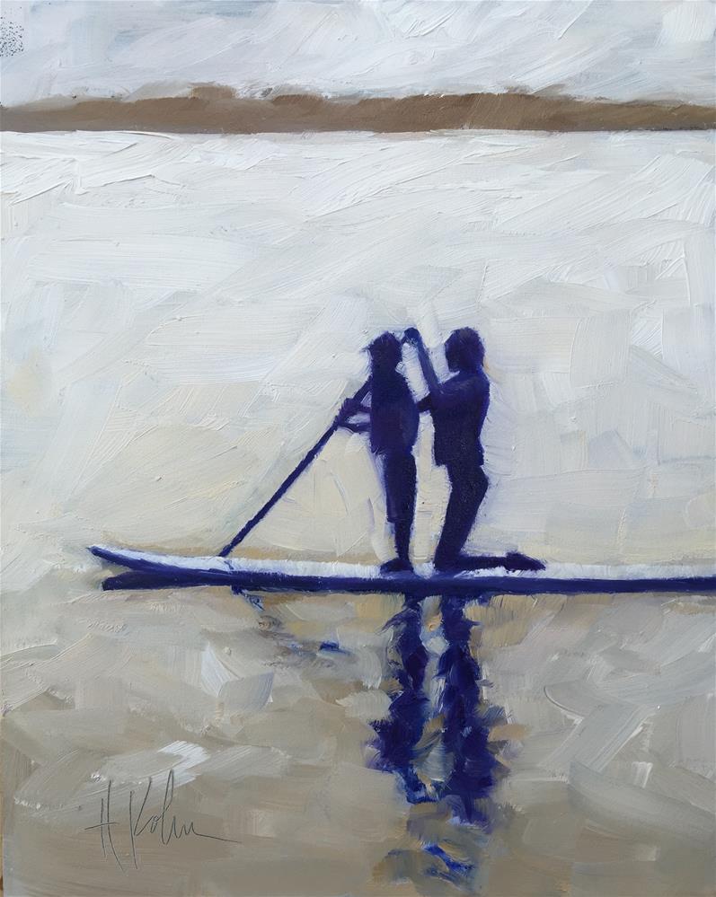 """Paddle Boarding"" original fine art by Hallie Kohn"