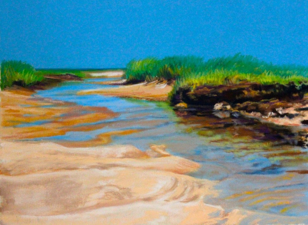 """The Sea Finds A Way"" original fine art by Jill Bates"