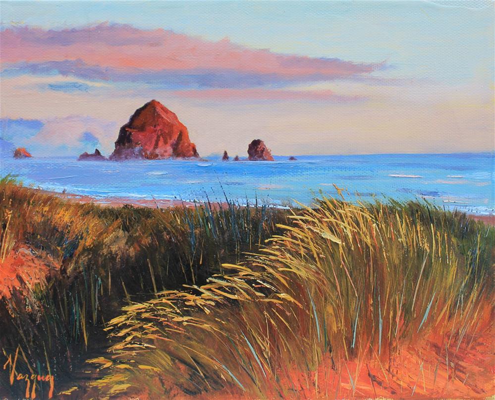 """Pacific coast sunset"" original fine art by Marco Vazquez"