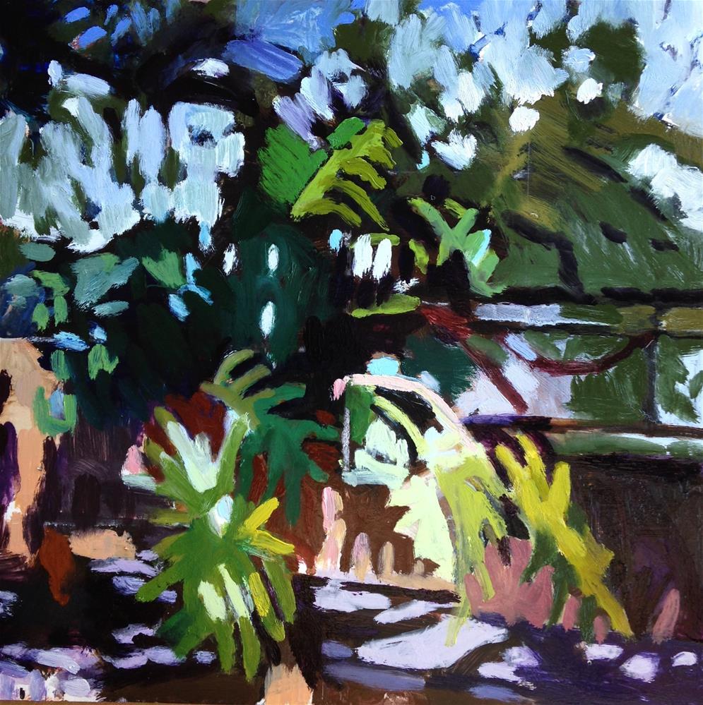 """Garden Notes"" original fine art by Pamela Hoffmeister"