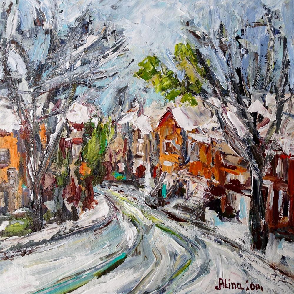 """Snow Day"" original fine art by Alina Vidulescu"