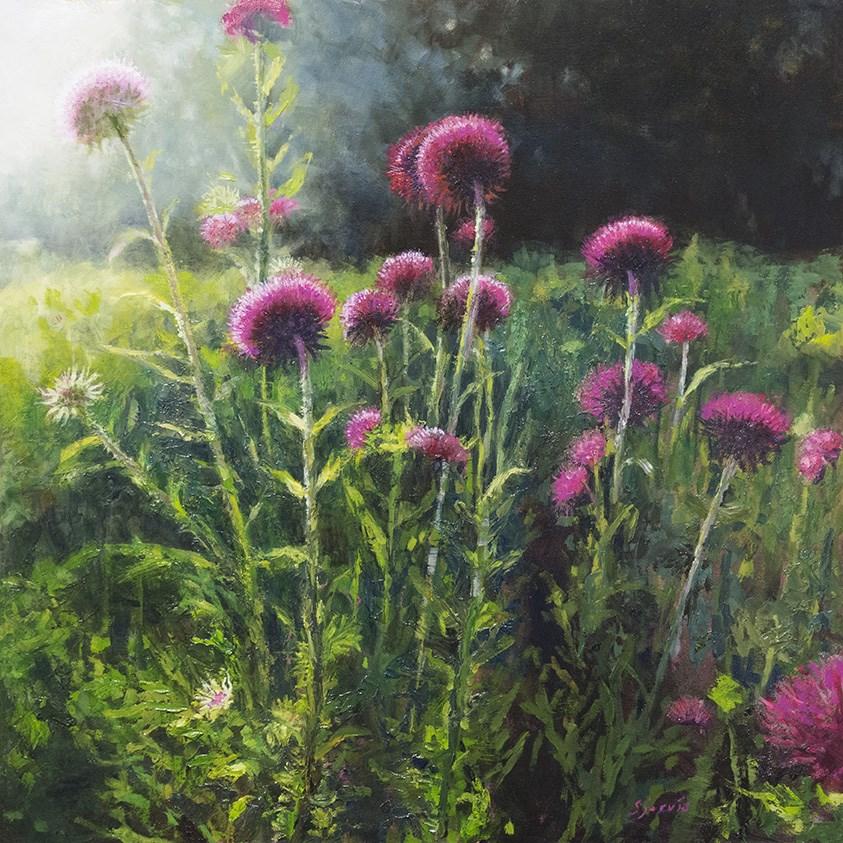 """""""THistle"""" original fine art by Susan N Jarvis"""
