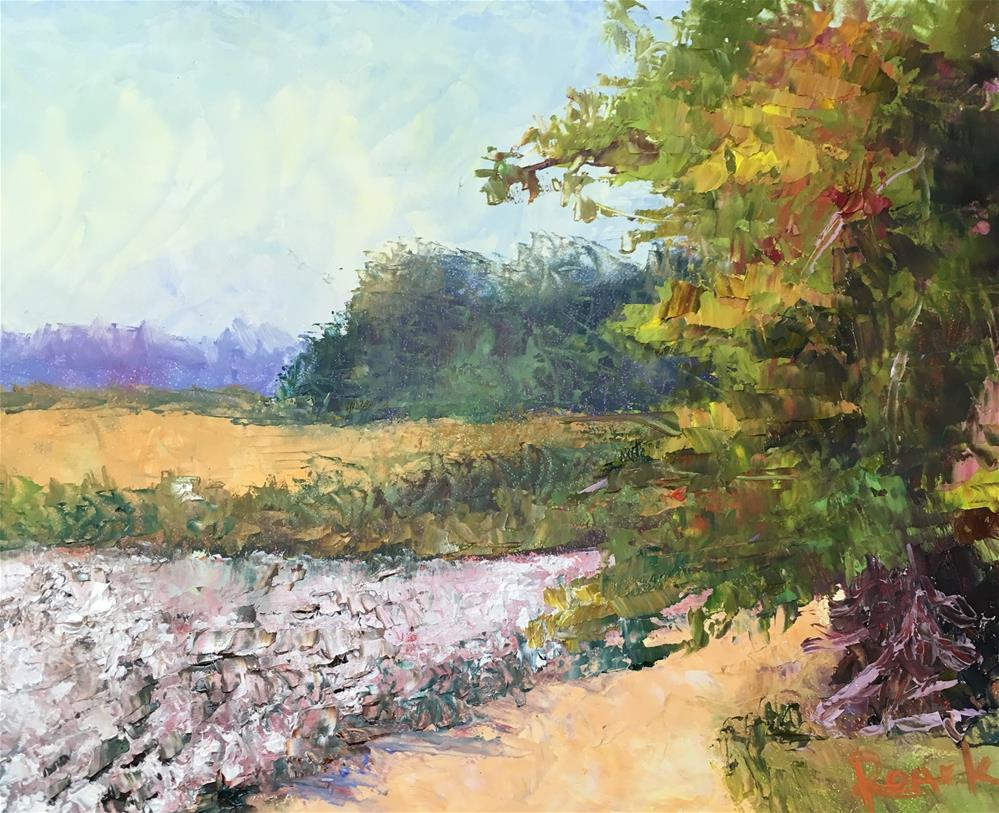 """Cotton Mid Morning"" original fine art by Carol Roark"