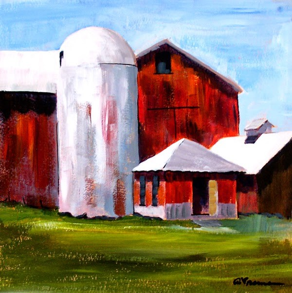 """Barn #3"" original fine art by Anna Vreman"