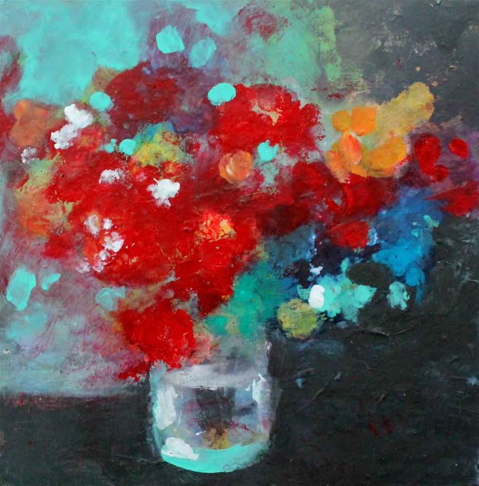 """Red Flowers"" original fine art by Kerri Blackman"