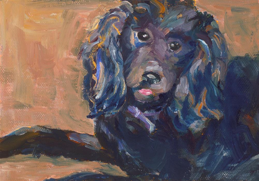 """Blu"" original fine art by Karen Gehse"