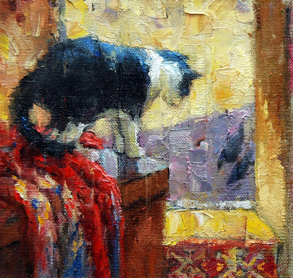 """Bird Watching  - A Demo"" original fine art by Julie Ford Oliver"