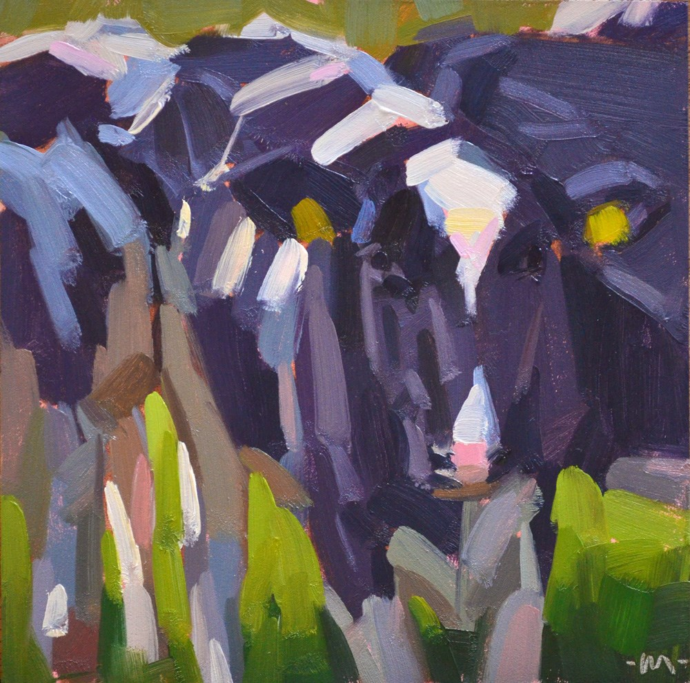 """Cow Power"" original fine art by Carol Marine"
