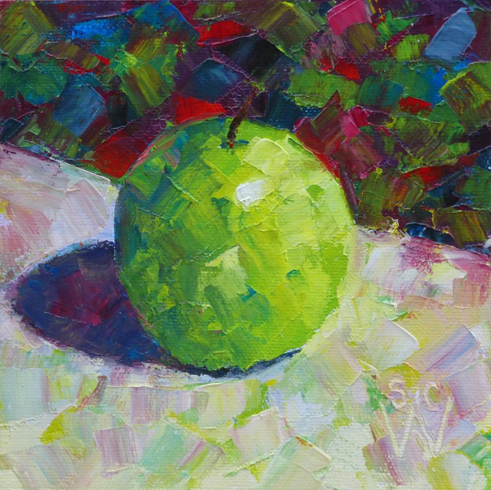 """Granny Smith"" original fine art by Susan Woodward"