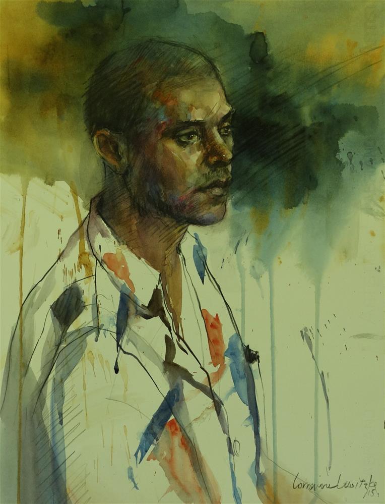 """Pensive"" original fine art by Lorraine Lewitzka"
