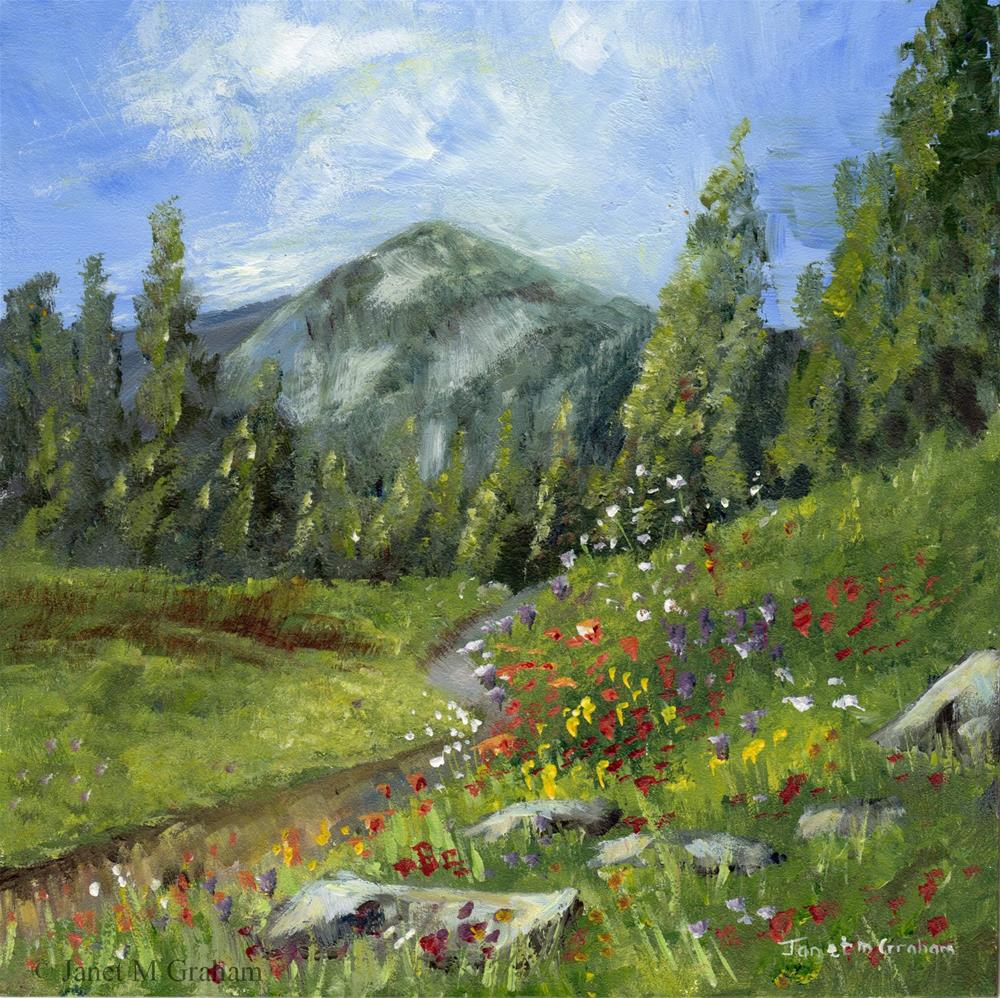 """Spring in the Mountains"" original fine art by Janet Graham"